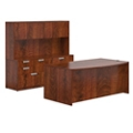 Contemporary Bowfront Desk Set, 16030