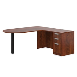 "Contemporary Peninsula L-Desk - 71""W x 72""D, 14653"