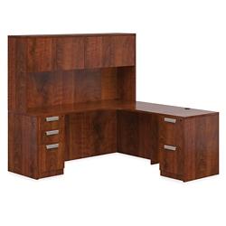 """Contemporary Right L-Desk with Hutch - 71""""W, 14654"""