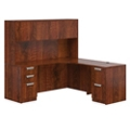 "Contemporary Right L-Desk with Hutch - 71""W, 14654"