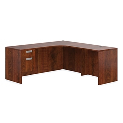 "Contemporary Corner L-Desk with User Curve - 71""W x 72""D, 16031"