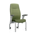 Flex Back Patient Chair with Rear Casters and Flip Arms, 26206