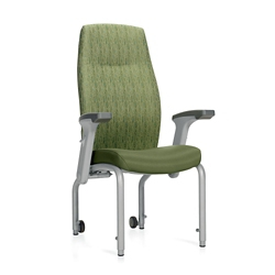 """Flex Back Patient Chair with Rear Casters and Flip Arms - 20""""H Seat, 26208"""
