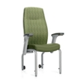 "Flex Back Patient Chair with Rear Casters and Flip Arms - 20""H Seat, 26208"