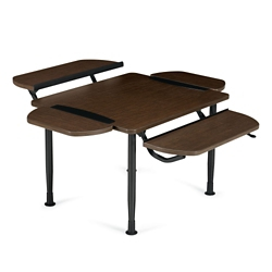 Table with Two Height Adjustable Tablet Surfaces and Two Removable Tablets, 41914