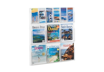 Literature Rack with 6 Brochure and 6 Magazine Pocket, 33040