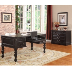 """Writing Desk with Leather Top - 66""""W, 14076"""