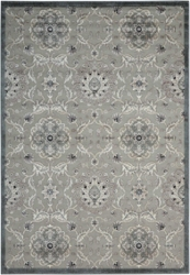 Graphic Floral Print Area Rug - 5.25'W x 7.42'D, 82204