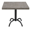 "Square Table with Metal Base - 30""W , 46093"