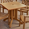 "Faux Teak Outdoor Square Table - 36""W, 46220"