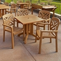 "32""W Square Table and Four Chairs, 46221"