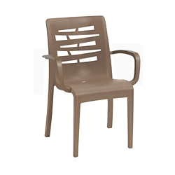Outdoor Stacking Armchair with Wedge Back, 51566
