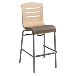Stacking Barstool with Slat Back, 51582