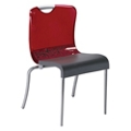 Transparent Back Armless Stacking Chair, 51587