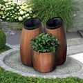 Three Piece Receptacle and Planter Set, 82864