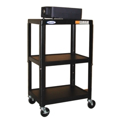 Adjustable Height Steel AV Cart, 43181
