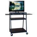 Wide Flat Panel TV Cart with Pull Out Shelves, 43184