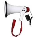 15W Megaphone with Mic and Voice Recording Functionality, 43380