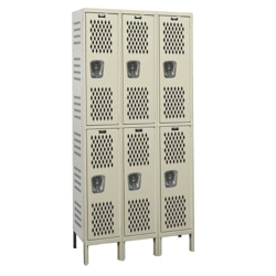 "36""W x 12""D Two Tier Ventilated Locker, 36075"