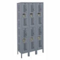 "36""W x 15""D Two Tier Ventilated Locker, 36076"