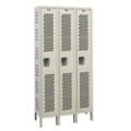 "Assembled 54""W x 21""D Single Tier Ventilated Locker, 36112"