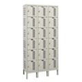 "Assembled 36""W x 12""D Six Tier Ventilated Locker, 36121"
