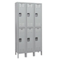 "Six Double Tier Medical Lockers - 36"" W, 36549"