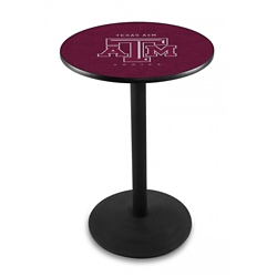 "Disc Base College Logo Table - 28""DIA x 36""H, 41908"