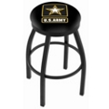 "Stool with Vinyl Military Logo - 25""H, 44684"