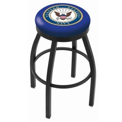 "Stool with Vinyl Military Logo - 30""H, 44685"