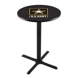 "Military Logo X-Base Table - 28""DIA x 42""H, 44687"
