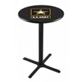"Military Logo X-Base Table - 28""DIA x 42""H, 44687"