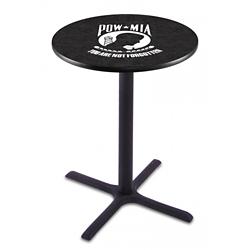 "Military Logo X-Base Table - 36""DIA x 42""H, 44689"