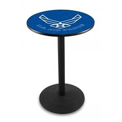 "Military Logo Disc Base Table - 28""DIA x 36""H, 44690"