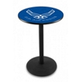 "Military Logo Disc Base Table - 28""DIA x 36""H, 44690"