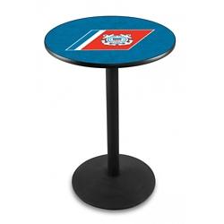 "Military Logo Disc Base Table - 36""DIA x 36""H, 44692"