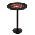 "Military Logo Disc Base Table - 36""DIA x 42""H, 44693"