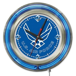 "Military Logo Neon Clock - 15"" Dia., 82158"
