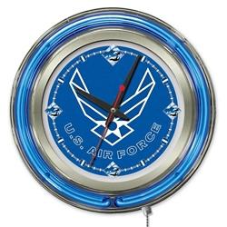 "Military Logo Neon Clock - 15"" Dia., 82158"