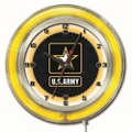 "Military Logo Neon Clock - 19"" Dia., 82159"