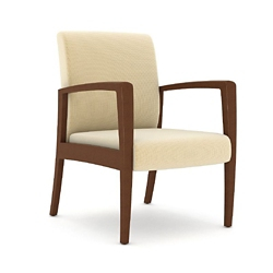 Polyurethane Armchair with Wood Frame, 26442