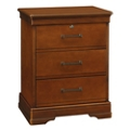 "Three Drawer Bedside Cabinet with Lock - 23.25""W, 26096"