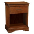 "Open Storage Bedside Cabinet with One Lockable Drawer - 23.25""W, 26098"
