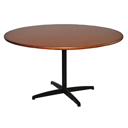 "X-Base Dining Table with Bullnose Edge - 54""DIA, 41929"