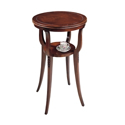 """Accent Table with Lower Shelf - 18""""DIA, 53144"""