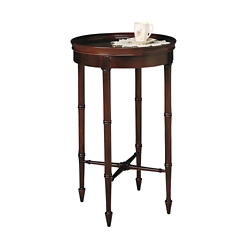 """Accent Table with Raised Sides - 16""""DIA, 53146"""