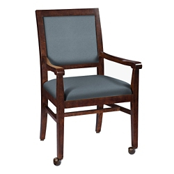 Dining Chair with Front Casters in Vinyl, 26359