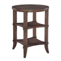 "Lamp Table with Two Lower Shelves - 21.75""DIA, 53157"