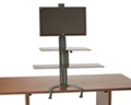 Sit Stand Single Monitor Workstation with Large Keyboard Tray, 60012