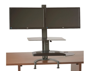 Sit Stand Dual Monitor Workstation , 60013